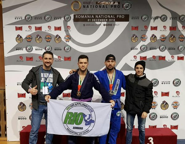 RO/EN Rio Grappling Club a câștigat 2 medalii de aur și 1 argint la UAEJJF România National Pro Competition 2018 / Rio Grappling Club won 2 gold medals and 1 silver at UAEJJF Romania National Pro Competition 2018